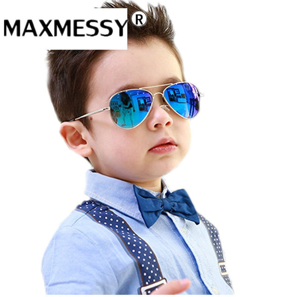 MAXMESSY New Fashion Baby Kids Sunglasses Style Brand Design Children Cool Sun Glasses UV400 Oculos De Sol