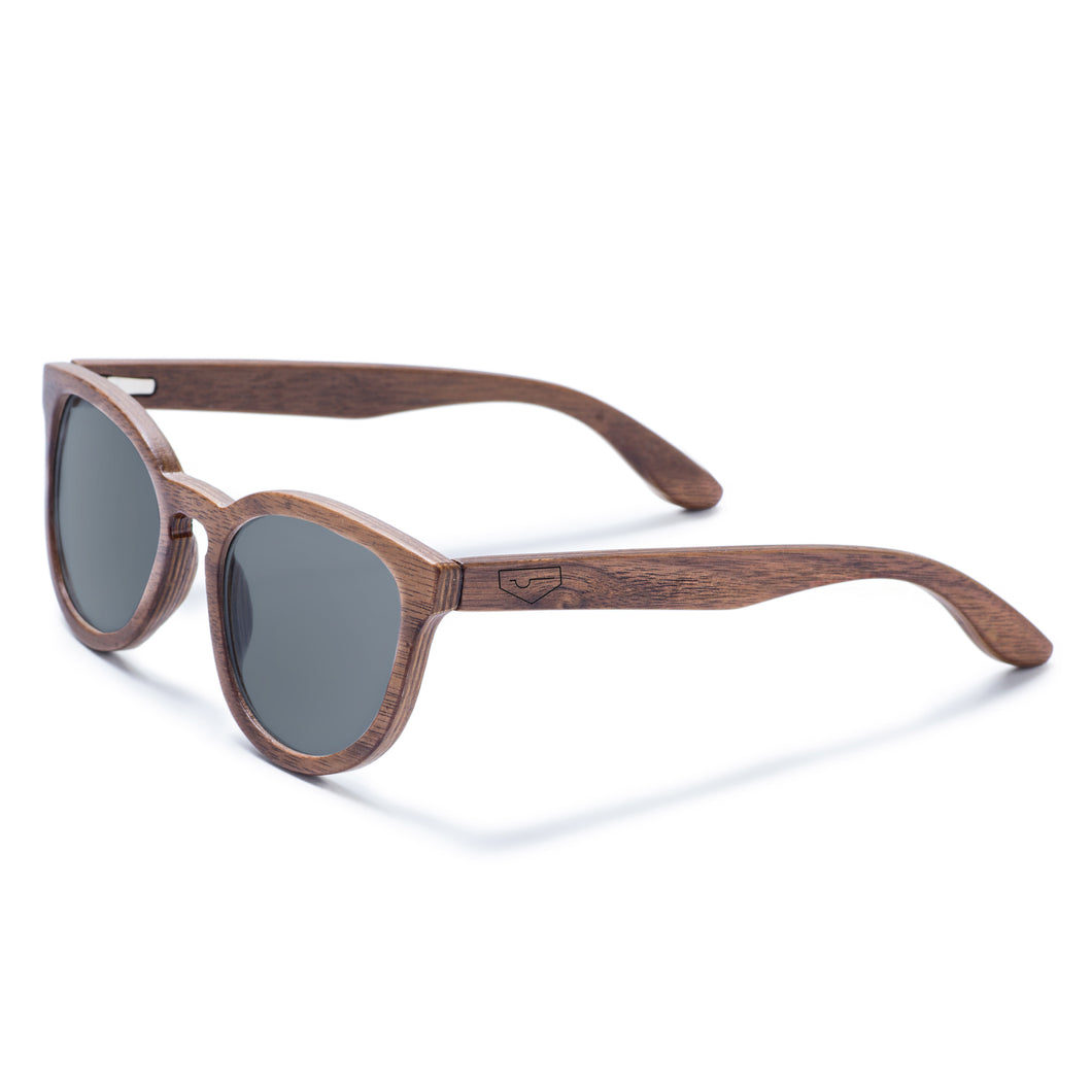 Broadview-Walnut Wood Sunglasses