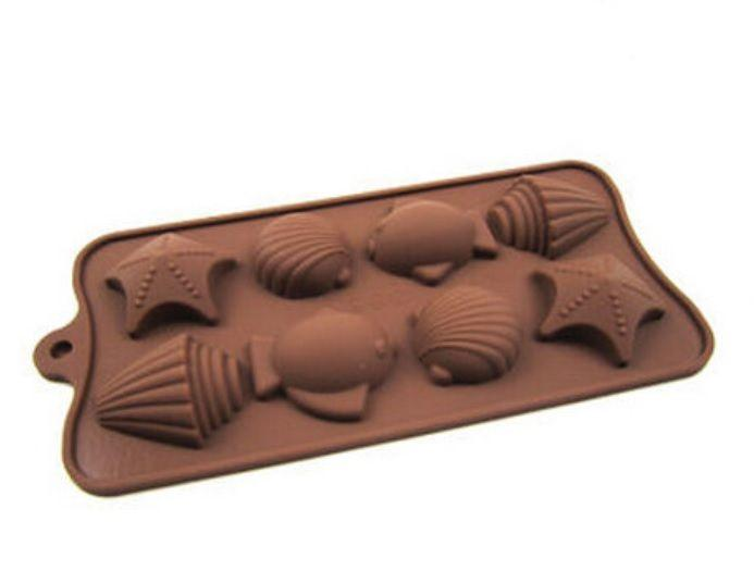 JoyGlobal 8-Cavity Fish & Shell Chocolate Mould, - JoyGlobal.in