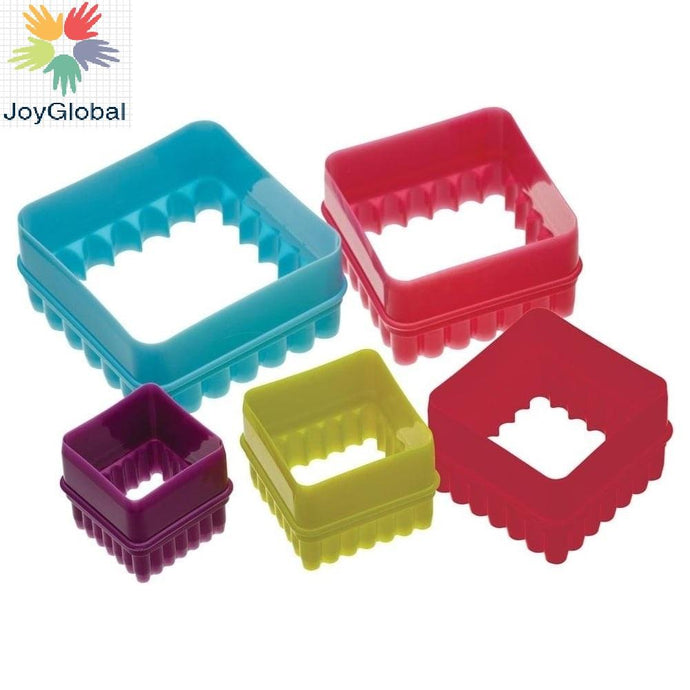 Plastic Cookie Cutter Set of 5-Piece 150 ml (Multi color)