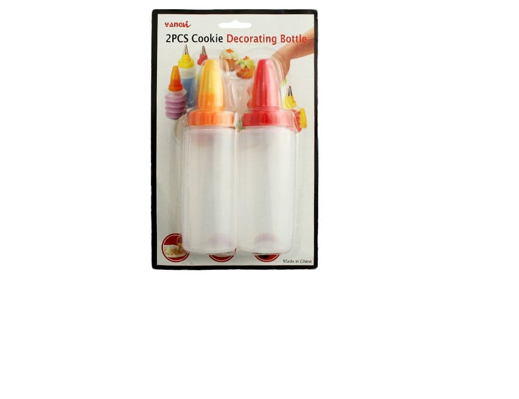JoyGlobal 2 Piece Cookie Decorating bottle with Nozzle Set - JoyGlobal.in