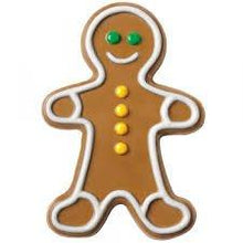 "Load image into Gallery viewer, 2 Pcs Set Gingerbread Man Silicone Cake Mold Pan (5"" x 4"" x 1.5"" deep) Random color - JoyGlobal.in"