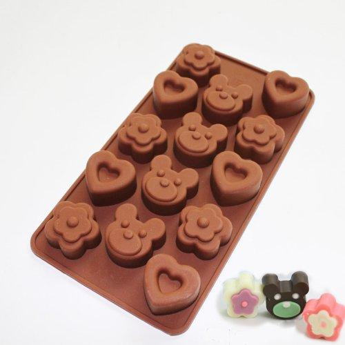JoyGlobal Cute Bear Heart Flower Chocolate Mold - JoyGlobal.in
