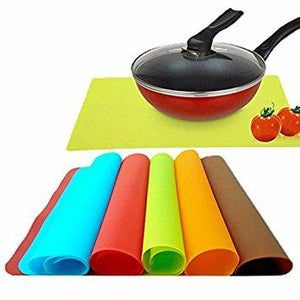 "Silicone Kitchen Non Stick Oven Proof Pastry Fondant Dough Rolling Baking Mat (Size : 16""x 11"" Inches/ 40.7 x 28.2 Cm) Brown/Coffee Colour"