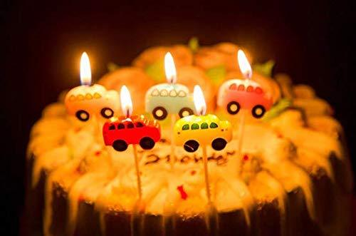 JoyGlobal  Car Vehicles Shape Candles Cake Cupcake Toppers .