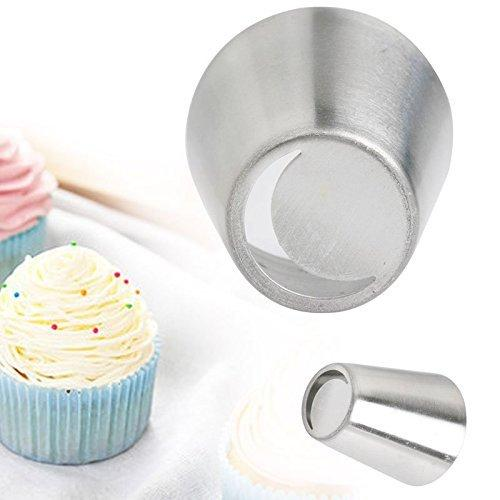 JoyGlobal Stainless Steel Russian Tulip Icing Piping Nozzles Tips Tool Cake Decoration (10#)