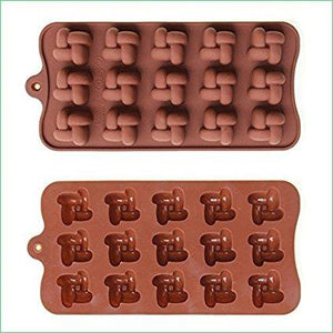 Joy Global Silicone Knot Chocolate Molds Cake Moulds Jelly Ice Mould