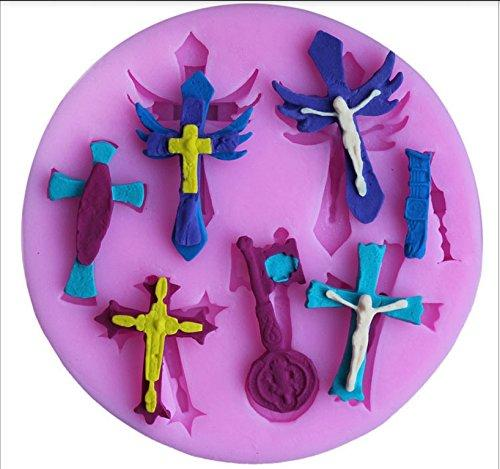 JoyGlobal Cross Fondant Silicone Mould - JoyGlobal.in