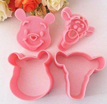 2 Piece Set Cartoon Cookie Cutter Fondant SugarCraft Biscuit Chocolate Clay DIY Plunger Cutter Stamp Pull Press Mold - JoyGlobal.in