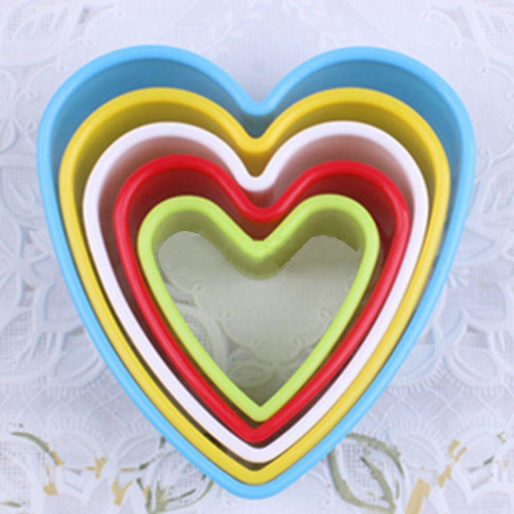 JoyGlobal Set of 5 Pieces Heart Cutter - JoyGlobal.in