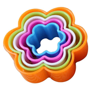 5 Pcs Set Flower Plastic Cookie Cutter Fondant Cutters Cake Decorating Tools - JoyGlobal.in