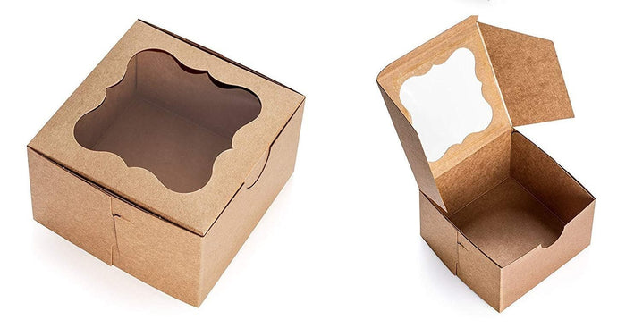 "Copy of Brown Cake Boxes with Window, 10 PCS – 10"" x 5"" Inch Cake Boxes, Party Favor Boxes, Candy Boxes, Dessert ."