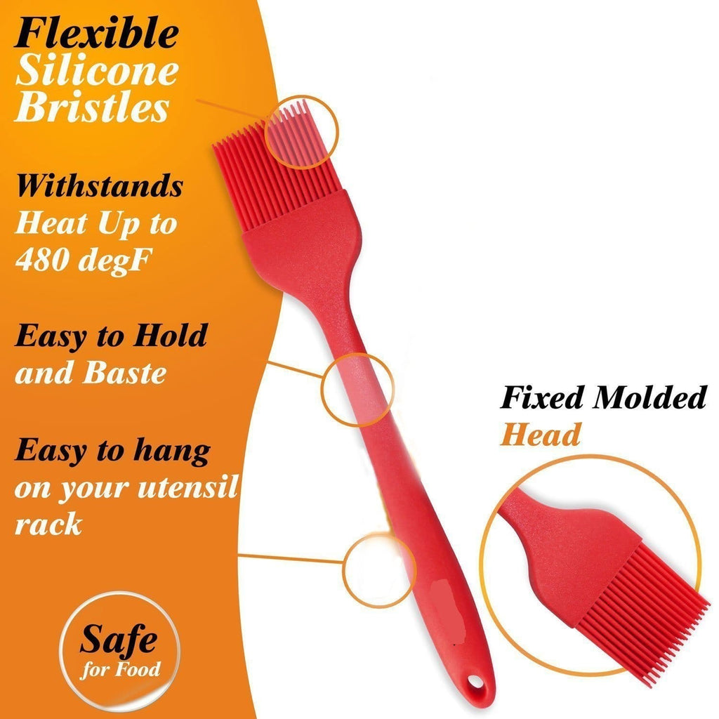 JoyGlobal Silicone Pastry Basting Brush And Spatulas - JoyGlobal.in