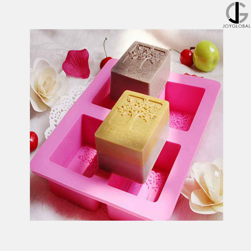 JoyGlobal 12 Cavities rectangle Silicone Mold - Approximately 80 Grams