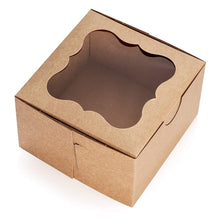 "Load image into Gallery viewer, Brown Cake Boxes with Window, 10 PCS – 9"" x 5"" Inch Cake Boxes, Party Favor Boxes, Candy Boxes, Dessert ."