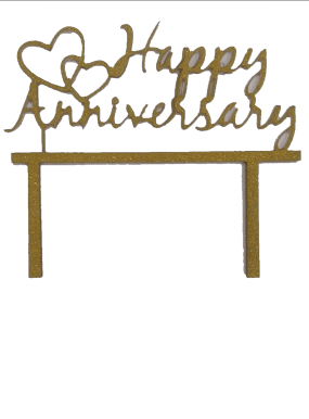 JoyGlobal Happy Anniversary Cake Topper - JoyGlobal.in