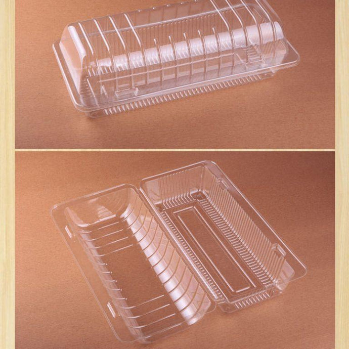 Clear Hinged Lid Plastic Sandwich Loaf Cake Bread Boxes (Pack Of 25 Pieces) OPS 78L