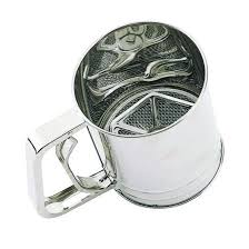 Large Size Stainless Steel Spring Action Flour Sifter Size: 5 x 7 x 5.3 Inches - JoyGlobal.in