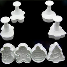 Load image into Gallery viewer, 4Pcs Sugarcraft Fondant Cookie Plunger Cutter Pastry Cake Decorating Mold Tools [ Colour may vary ] - JoyGlobal.in