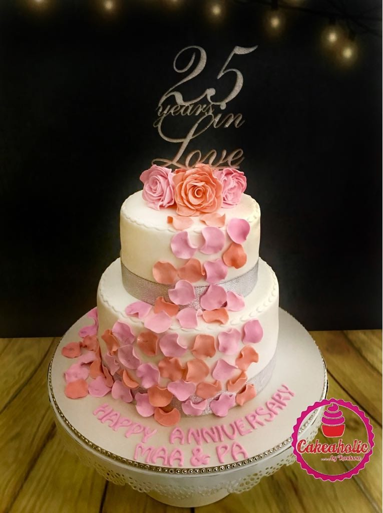 JoyGlobal Acrylic 25 Years in Love Cake Topper - Single Piece - JoyGlobal.in