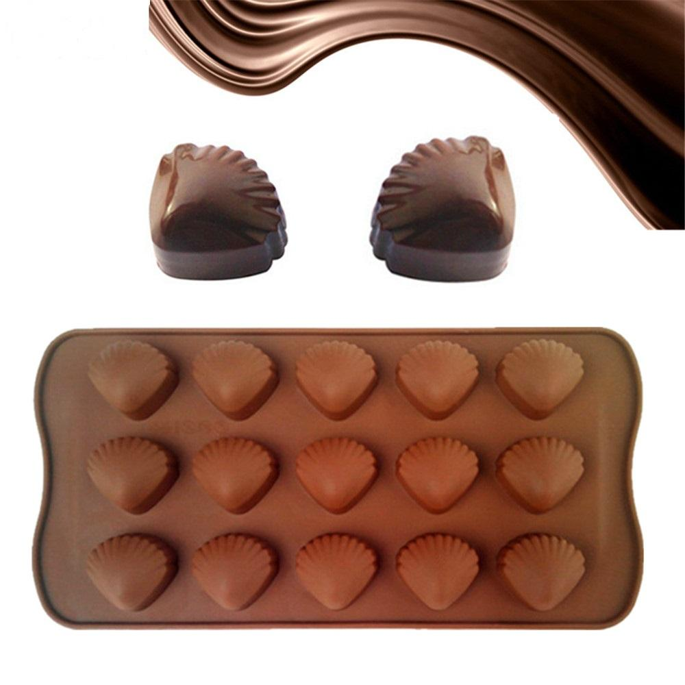 JoyGlobal 15 Cavities Cute Shell Shape Chocolate Silicone Mould Cake Decoration Tools - JoyGlobal.in