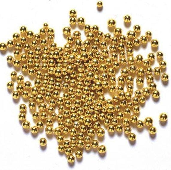1 MM EDIBLE SPRINKLERS BALL CAKE DECORATING SUPPLIES GOLDEN COLOR (250 GRAMS )