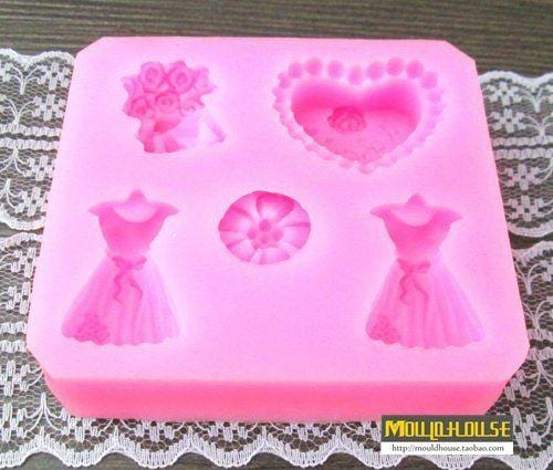 JoyGlobal I Love You Printed With Heart Silicone Fondant Mould - JoyGlobal.in