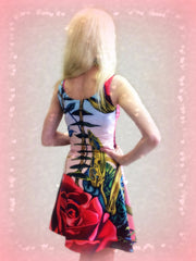 Rose Dress, back, with hearts