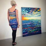Secret View Dress with original painting