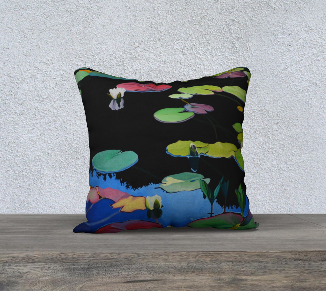 Lilies of the Woods Pillow 18 x 18