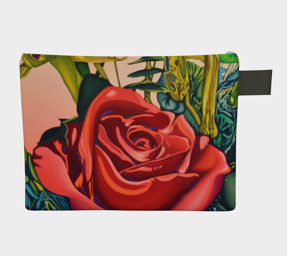 Rose Zipper Carry-all