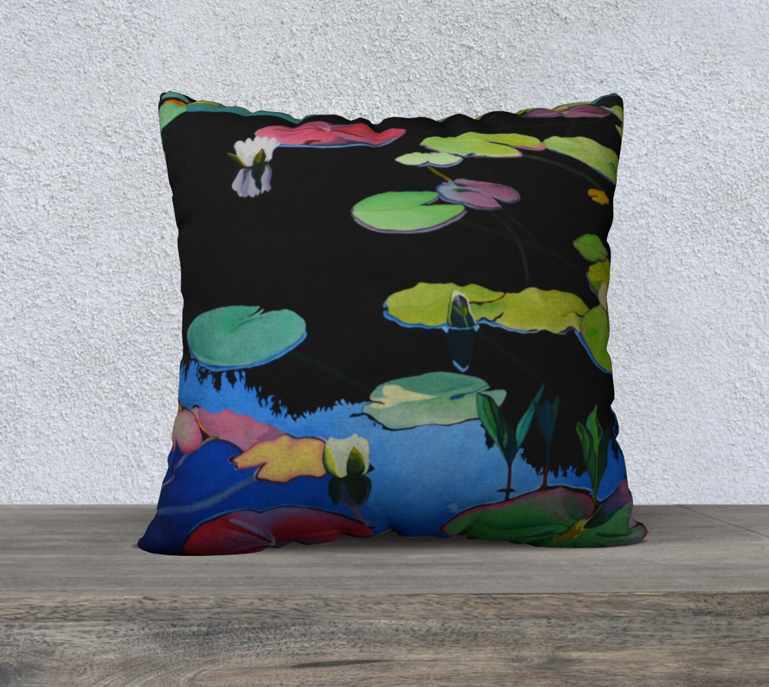 Lilies of the Woods Pillow 22 x 22