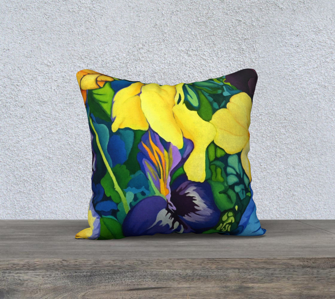 Blue and Yellow Pillow #2