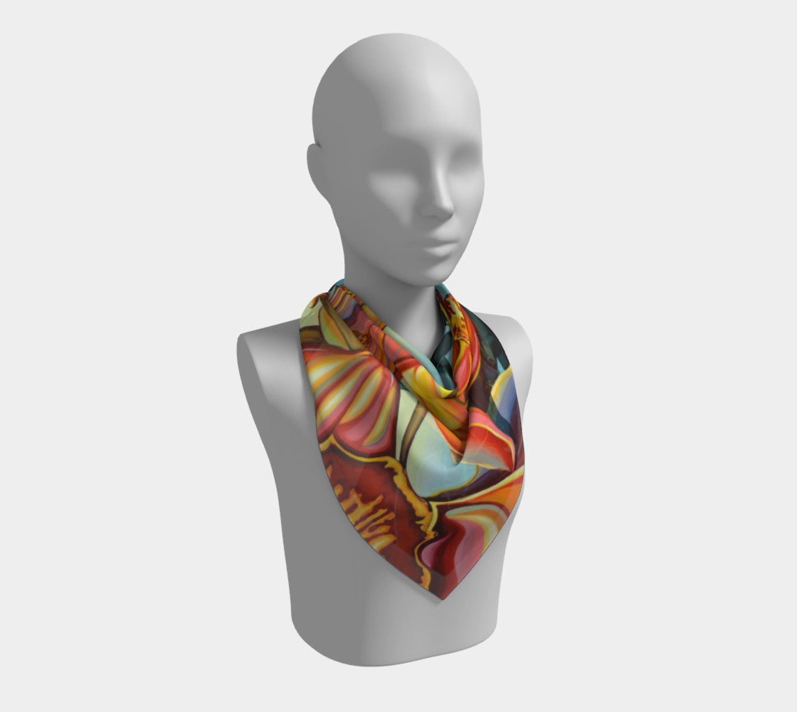 Pollination Square Scarf