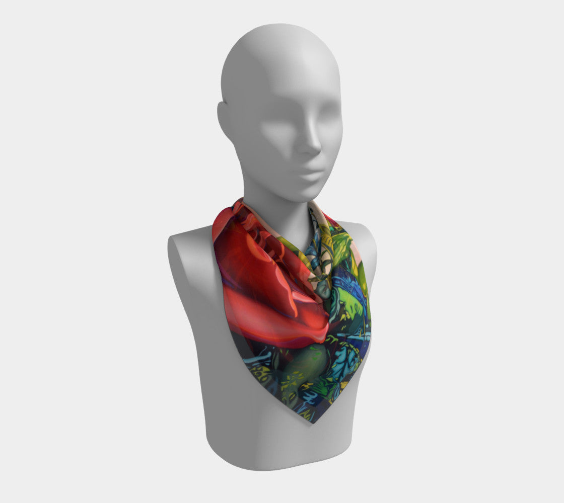 Rose Scarf - Square