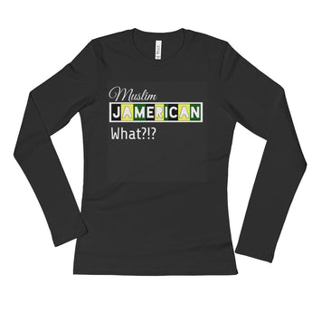 """Jamerican"" Ladies' Long Sleeve T-Shirt"