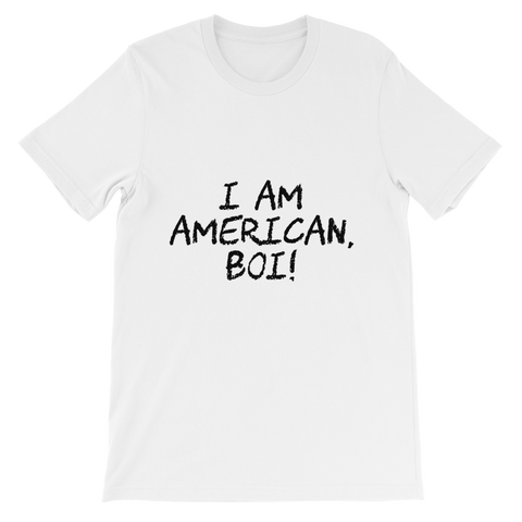 """Boi. Black letters""Unisex short sleeve t-shirt"