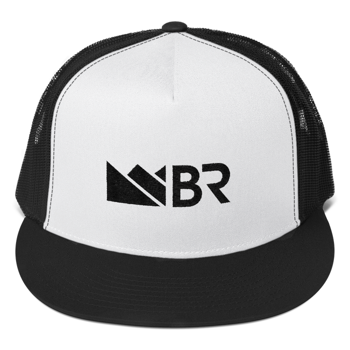 BR White Panel Trucker Cap