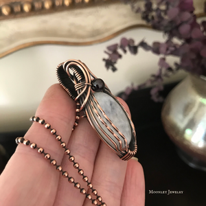 Moonstone Oval in Antique Copper