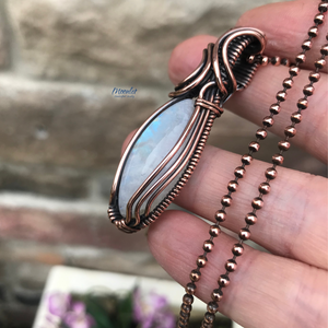 Moonstone Marquise in Antique Copper