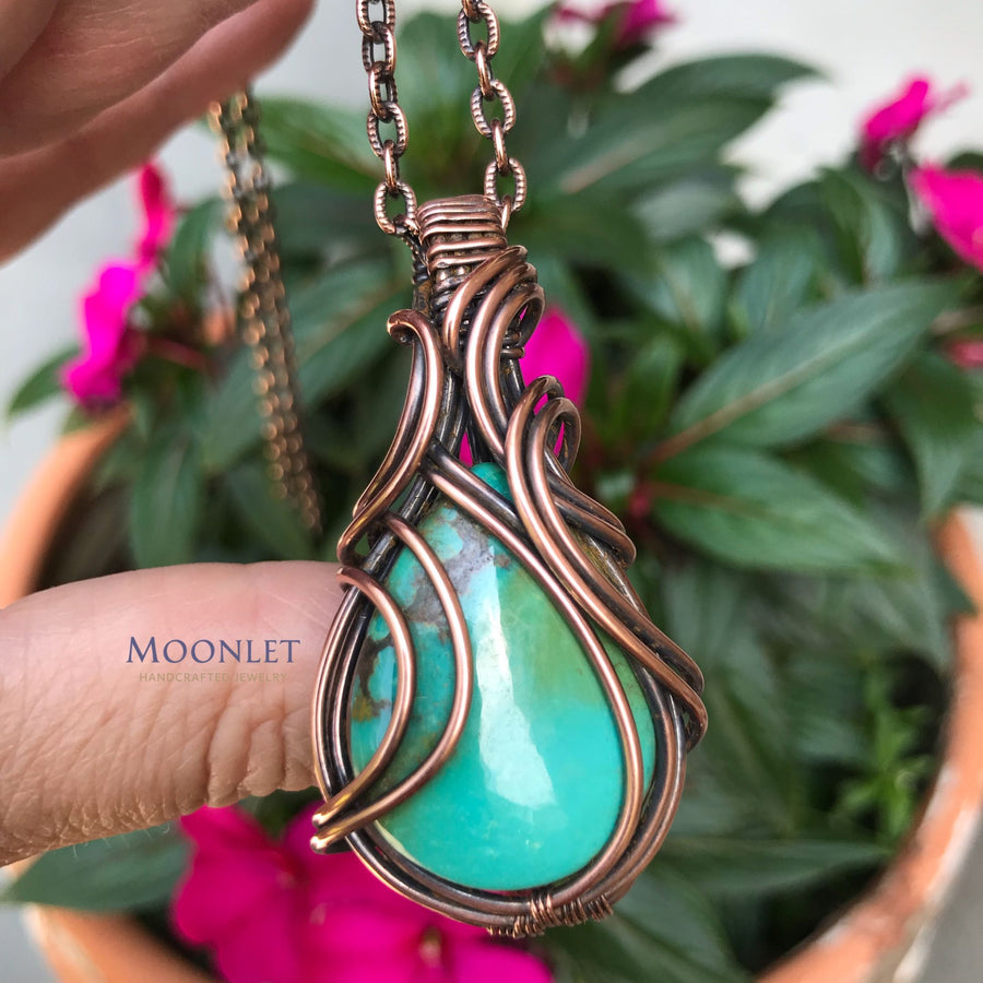 Turquoise in Antiqued Copper