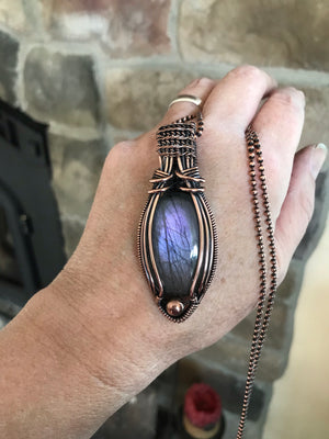 Purple Labradorite in Antique Copper