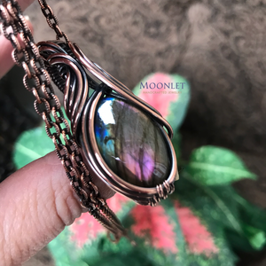 Reserved - Rainbow Labradorite in Copper
