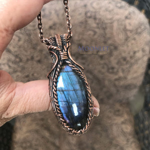 """Victoria"" Purple Labradorite in Copper"