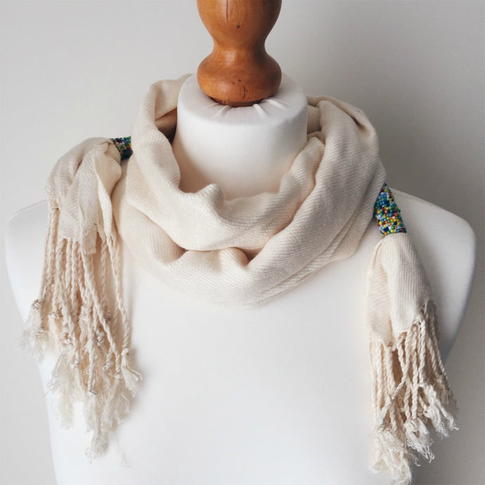 Funika Skinny Beaded Scarf - More Colours Available