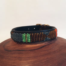 Leather Beaded Dog Collar Size XS