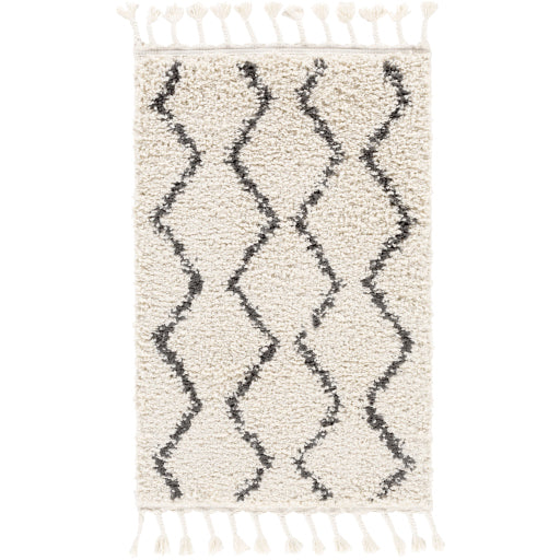 Chevron Shag Area Rug