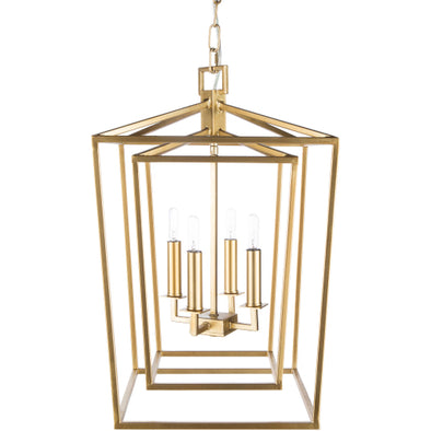 Ellis Linear Gold 4-Light Chandelier