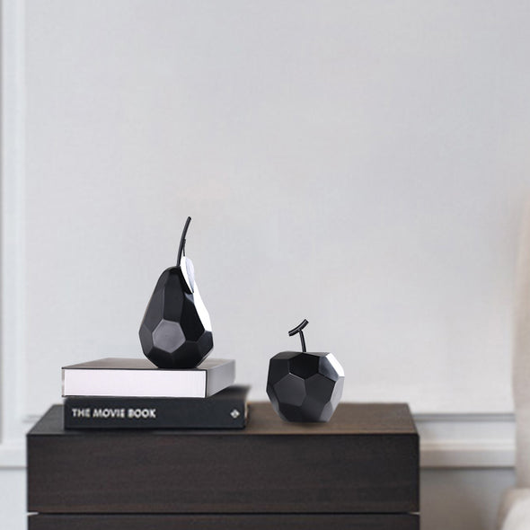 Modern Minimalist Ceramic Fruit Collection - Apple & Pear