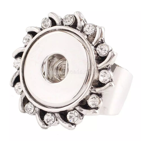 Classic - Ring with diamante and solid adjustable band